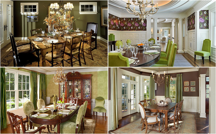 15 потрясающих столовых в зелёных тонах