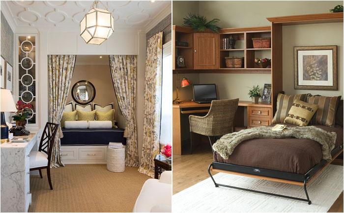 25  домашних офисов, превращающихся в уютную гостевую спальню