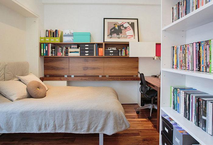 Интерьер небольшого офиса-спальни от Raad Studio