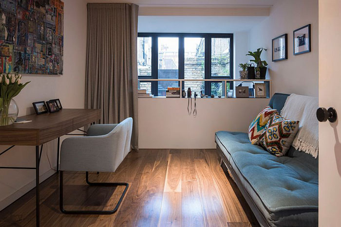Офис-спальня в индустриальном стиле от Kirkwood McCarthy
