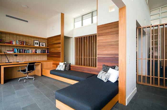 Домашний офис с кушетками от justin long design