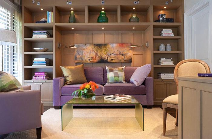 Домашний офис с диваном от Cindy Ray Interiors