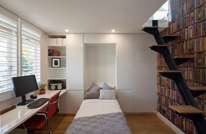 Домашний офис со встроенной кроватью от Bayview Design Group Australia