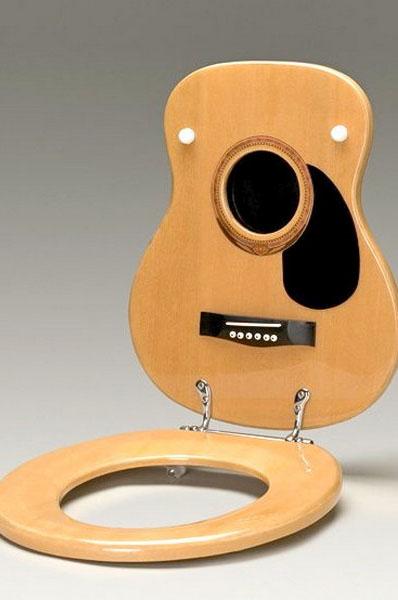 Сиденье для унитаза в виде гитары (Кентукки, США)