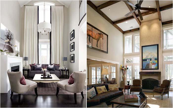 Шесть простых и эффективных способов визуально уменьшить высоту потолков