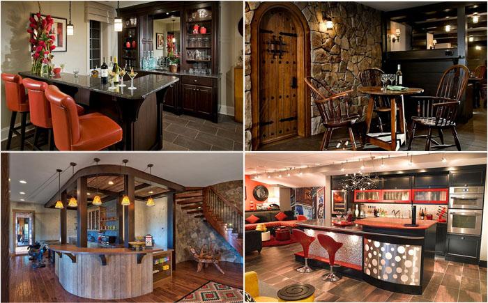 Как оборудовать стильный и уютный бар в подвале дома