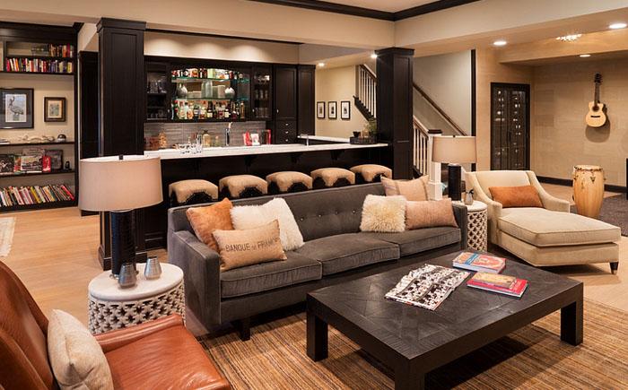 фото бар в гостиной