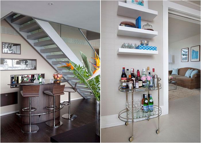 Домашний бар может быть разным
