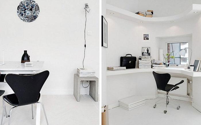 Домашний офис в углу комнаты от Alvhem brokerage and Interior