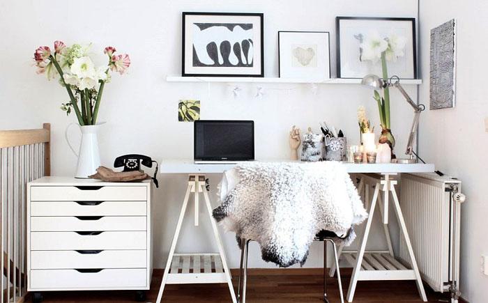 Оригинальный домашний офис в скандинавском стиле