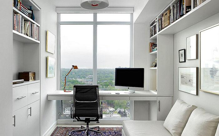 Домашний офис с потрясающим видом на город от Jill Greaves Design / Box wood Architects