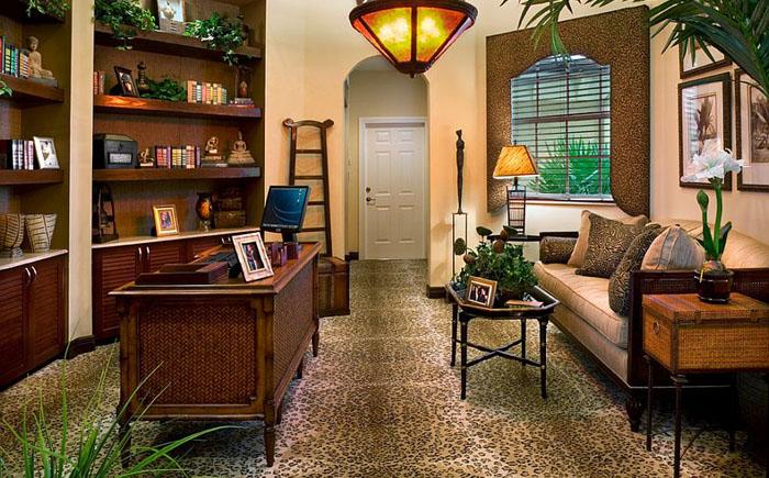 Зелень в интерьере домашнего офиса от De'Shea Interiors
