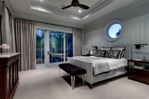 Традиционная спальня в модных оттенках