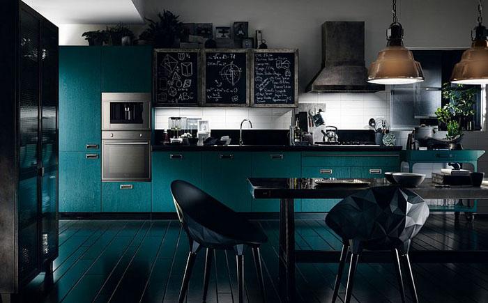 Оригинальный кухонный гарнитур для кухни в индустриальном стиле