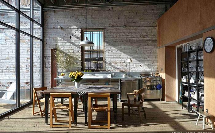Интерьер кухни со стеклянной стеной от Anderson Nikolich Design Initiative