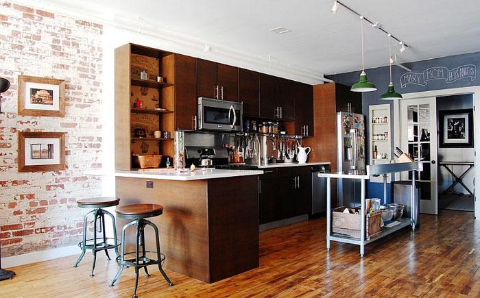 Элегантная кухня в индустриальном стиле