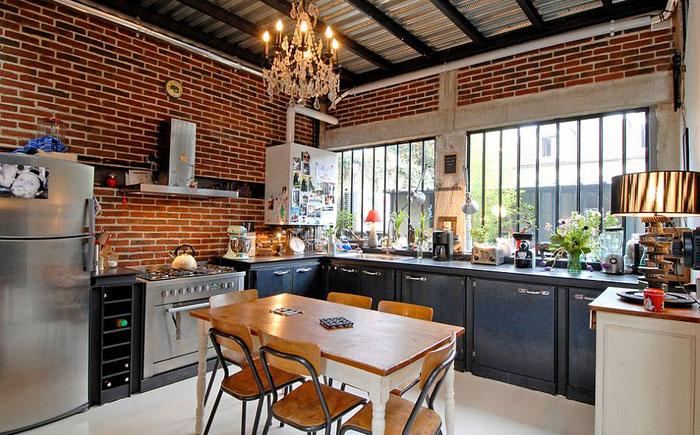 Кухня в индустриальном стиле от Zoevox