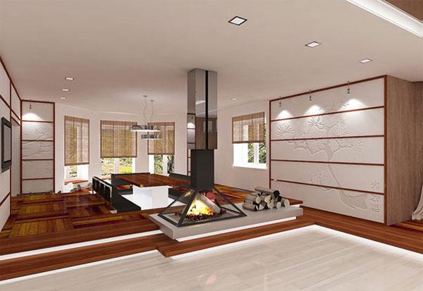 Минимум мебели и декора в просторных комнатах