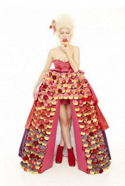 «Платье из кексов»