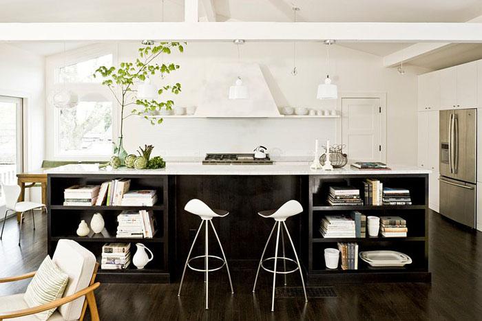 Чёрно-белая кухня от Jessica Helgerson Interior Design