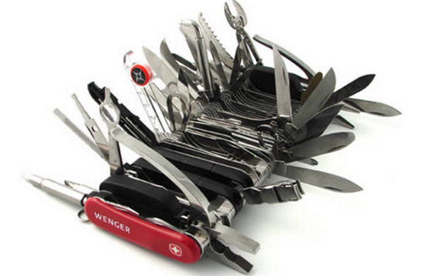 Универсальный армейский набор швейцарских ножей