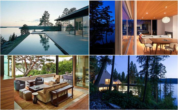 10 самых потрясающих домов на берегу озёр