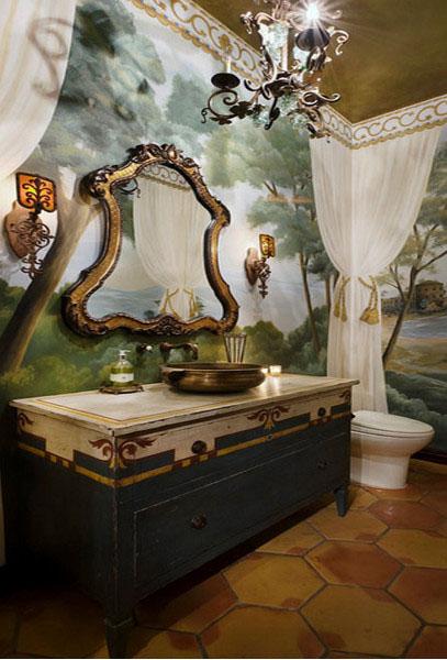 Интерьер ванной от Jauregui Architecture Interiors