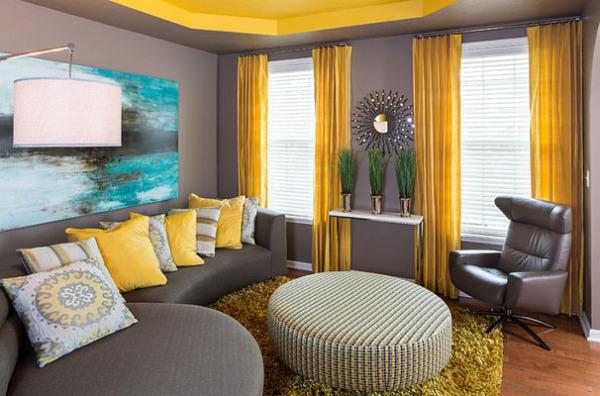 Чёрный диван в интерьере фото