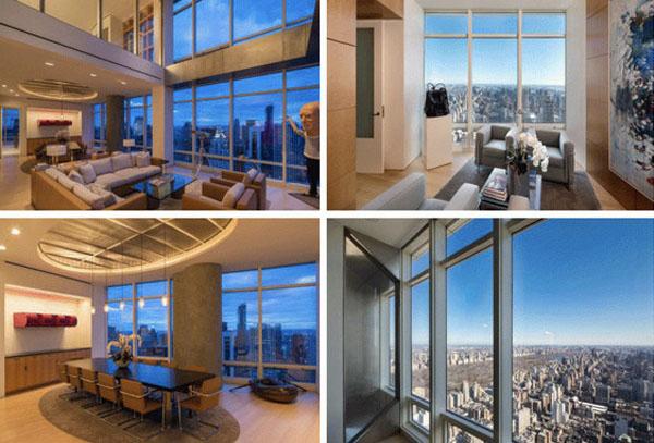 Апартаменты в Нью-Йорке, заявленная цена  $98 миллионов