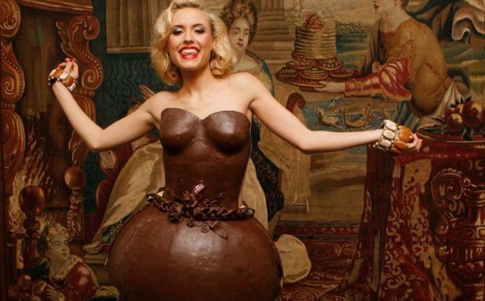 Шоколадноеплатье от немецких пекарей