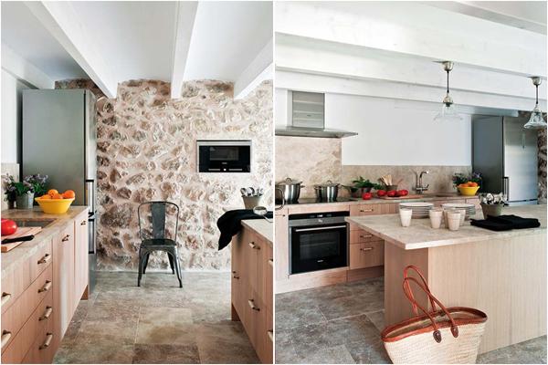 Кухня со встроенной в стены техникой