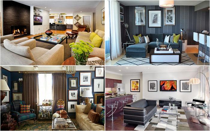 35 потрясающих гостиных комнат в мужском стиле