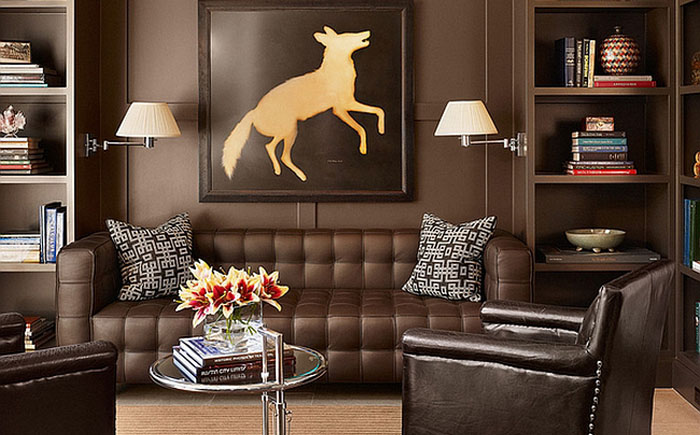 Оригинальный приставной столик в интерьере от Mark Ashby Design