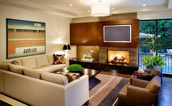 Стильная гостиная от b+g design