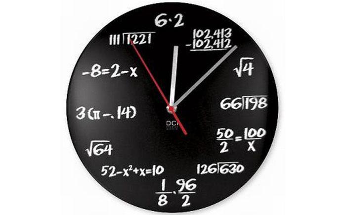 Математические настенные часы