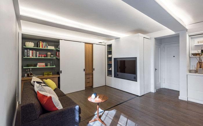 Раздвижная стена как способ расширить пространство в малогабаритной квартире