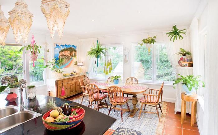 Интерьер столовой в стиле бохо от Bronwyn Poole