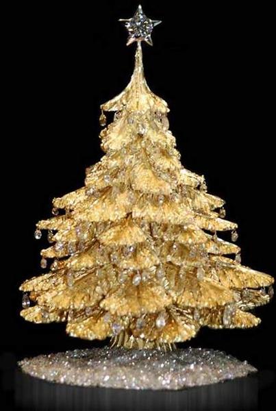 Золотая рождественская елочка (Steve Quick Jewellers)