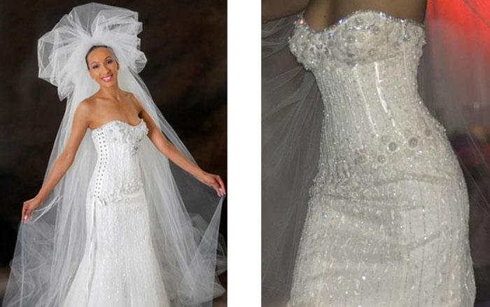 Бриллиантовое свадебное платье