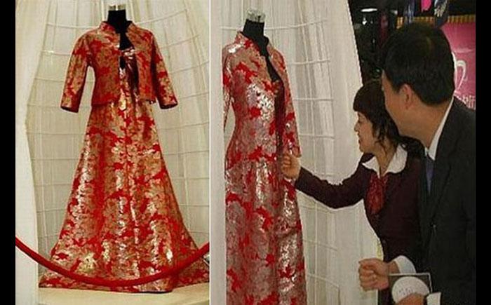 Свадебное платье из платины
