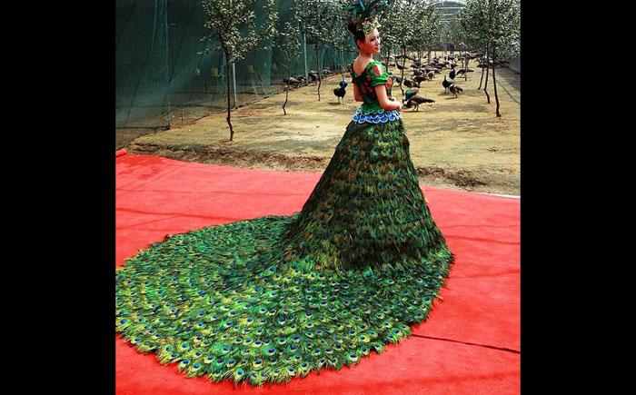 Свадебное платье «Павлин»