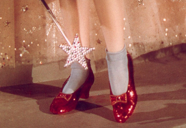 Рубиновые туфли Джуди Гарленд из фильма «Волшебник из страны Оз»