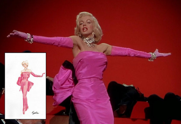 Розовое платье Мэрилин Монро из фильма «Мужчины предпочитают блондинок»