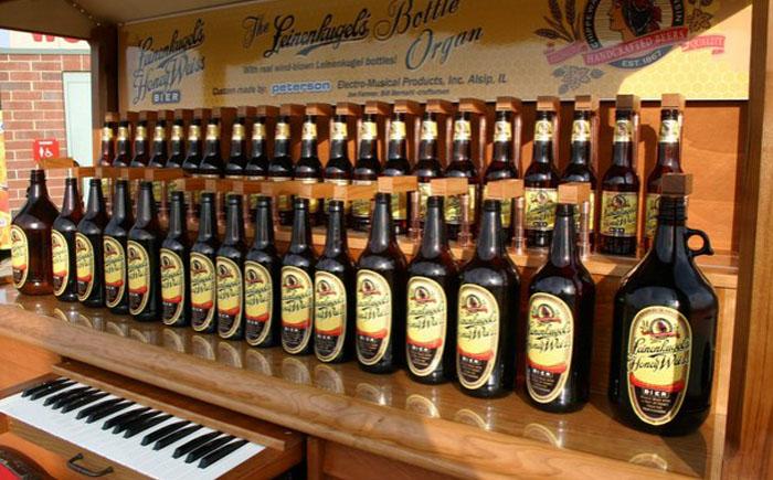 Орган из пивных бутылок