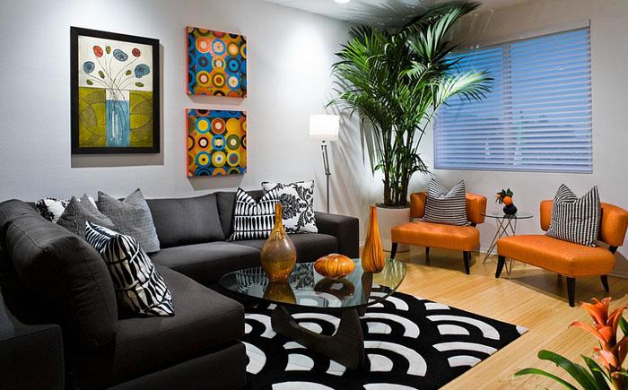 Стильная гостиная от Michelle Harrison Design