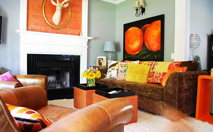 Гостиная в эклектичном стиле от  Judith Balis Interiors