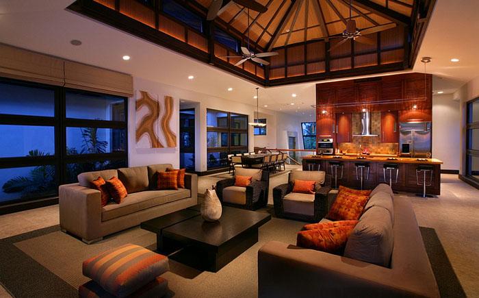 Чёрный и оранжевый в интерьере от K2 Design Group