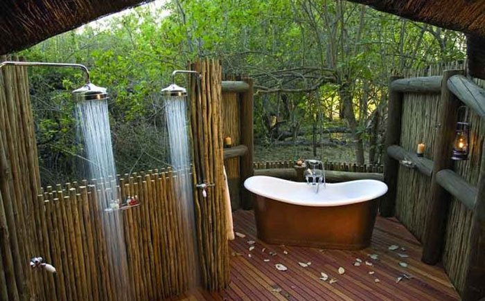 Летний душ с ванной