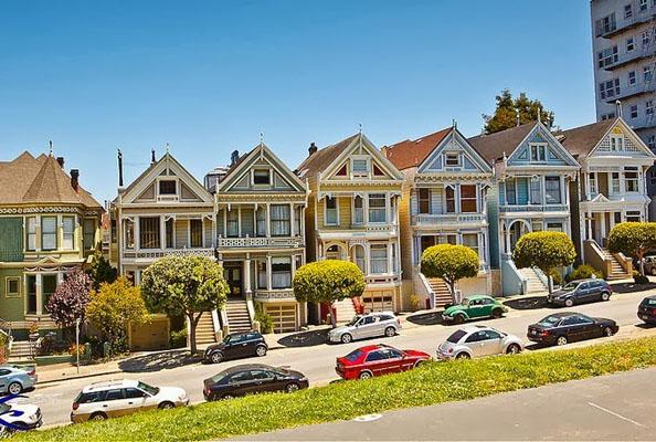 «Painted Ladies» из Сан-Франциско: улица в викторианском стиле