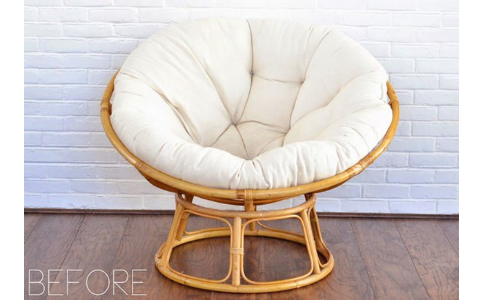 Кресло Papasan (50 фото качалка из ротанга и подушка для нее) 38
